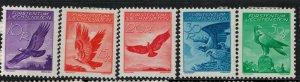 Liechtenstein 1934-1935 SC C9-C13 Mint SCV $151.00 Set