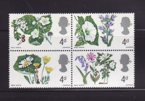 Great Britain 491a MH Flowers