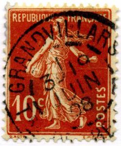 FRANCE - cad  GRANDVILLARS / Tre DE BELFORT  sur Yv.138 10c Semeuse