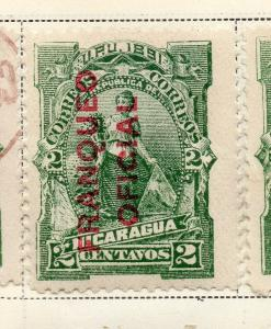 Nicaragua 1891 Early Issue Fine Mint Hinged 2c. Official Optd 323699