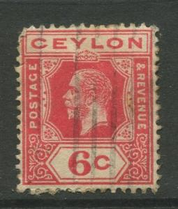 Ceylon #204  Used  1912  Single 6c Stamp