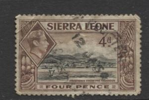 Sierra Leone - Scott 178 - KGVI - Definitive -1938 - Used - Single 4d Stamp