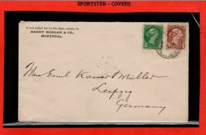5c UPU to Germany St Catherines w receiver Small Queen cover Canada