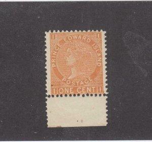 PRINCE EDWARD ISLAND # 11b VF-MNH 1cts 1872 QUEEN VICTORIA /BROWN-ORANGE CV $24