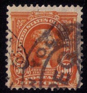 US Sc #310 50c Orange Used Fine