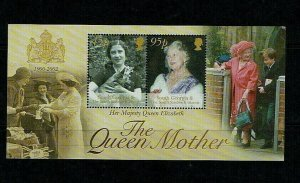 South Georgia, 2002, Queen Elizabeth, The Queen Mother, Commemoration  MNH M/S