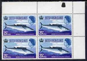 British Virgin Islands 1968 Wahoo 25c (Game Fishing) unmo...