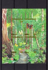 New Caledonia 1991 Sc#662 BUTTERFLIES/PHILA-NIPPON S/S DELUXE Imperforated MNH