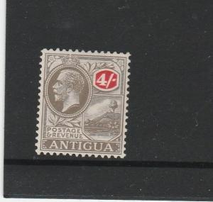 Antigua 1921/9 Script CA 4/- MM SG 80