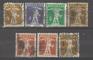 COLLECTION LOT # 5095 SWITZERLAND 7 STAMPS 1909+ CV+$20