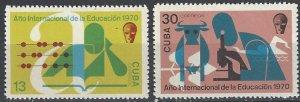 Cuba 1570-1 MNH  International Education Year 1970