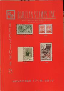 Raritan Auction 75,Nov 2017 Catalog,Wide Rare Russia Postage & Worldwide