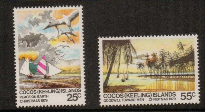 COCOS (KEELING) ISLANDS SG48/9 1979 CHRISTMAS MNH