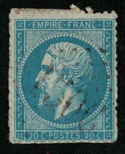France, 1862-1871 Emperor Napoléon III, Perforated, MC #21 (4339-Т)