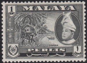Malaya Perlis 1957-62 MH Sc #29 1c Copra, Raja Syed Putra