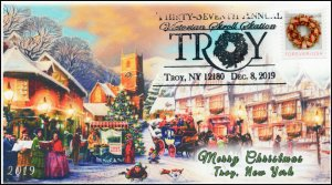 19-309, 2019, Christmas, Pictorial Postmark, Event Cover, Troy NY, Victorian