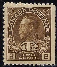 Canada - 1916 2c + 1c Brown War Tax mint #MR4