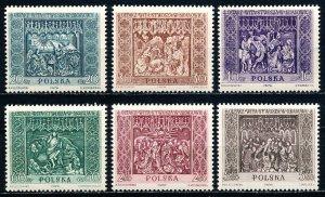 Poland #925-930  Set of 6 MNH