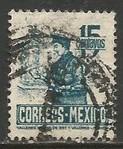 MEXICO 825 VFU POSTMAN Z1162-4