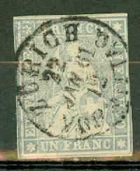 Switzerland 31a (thin paper) used CV $7500