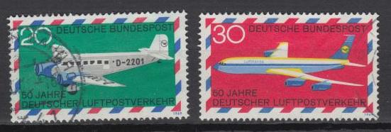 Germany - 1969 German Airmail Service Sc# 993/994 (64)