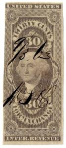 (I.B) US Revenue : Foreign Exchange 30c (first issue)