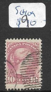 CANADA (P0909B) SMALL QUEEN 10C SC 40G  VFU