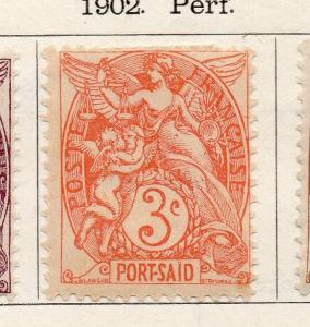 Port Said 1902 Early Issue Fine Mint Hinged 3c. 272781