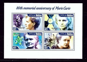 Maldive Is 3109 MNH 2014 80th Memorial Anniv of Marie Curie sheet of 4