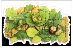 Guernsey Sc 1127a 2011 Europa Forests stamp sheet used