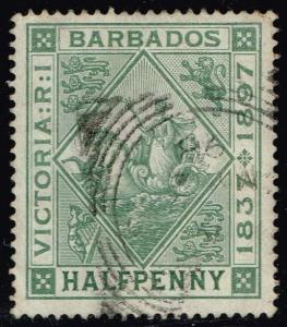 Barbados #82 Seal of the Colony; Used (0.75)