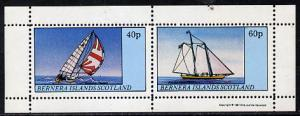 Bernera 1981 Yachts #3 perf  set of 2 values (40p & 6...
