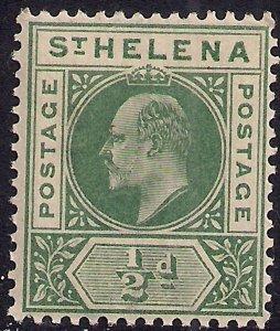 St Helena 1902 KEV11 1/2d Green Umm SG 53 ( K1001 )