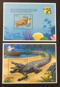 Palau 1999 #496-7 S/S, Endangered Species, MNH.