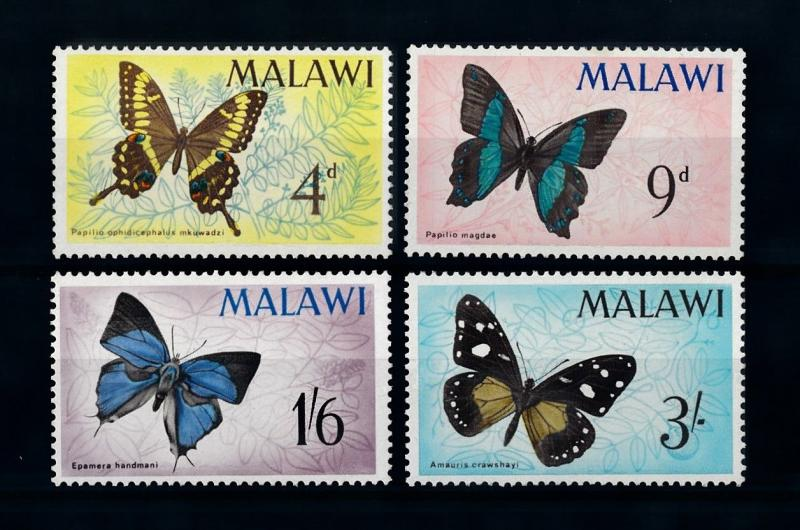 [70666] Malawi 1966 Insects Butterflies  MNH