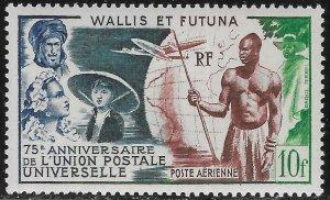 Wallis and Futuna Islands 10f UPU Air Mail issue of 1949, Scott C10 MNH