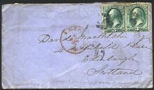 USA 1875 6c rate cover New York to Scotland................................93813