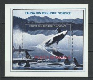 Romania MH S/S 3789 Killer Whale 1992