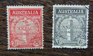 Australia 1935 20th Anniversary of Gallipoli Landing set Used