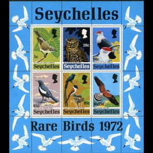 SEYCHELLES 1972 - Scott# 304a S/S Birds NH