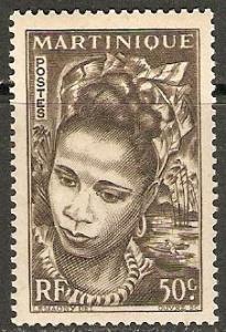 1947 Martinique Scott 219 Martinique Girl  MVLH