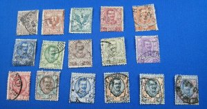 ITALY 1901-1926  -  SCOTT # 76-91  -   USED COMPLETE SET   (Xi13)