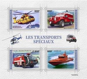 TOGO - 2021 - Special Transport - Perf 4v Sheet - Mint Never Hinged