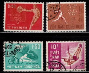 South Vietnam Scott 272-275 mixed mitn and Used Olympic stamp set