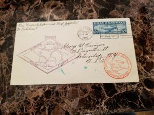 1930 USA Graf Zeppelin Cover Around the World to Schenectady NY # C15