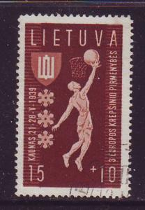Lithuania Sc B52 1939 Basket Ball Championships stamp used