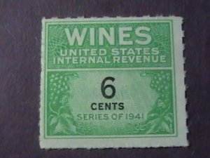 U.S.# RE118-MINT/NEVER HINGED---WINE STAMP---1942