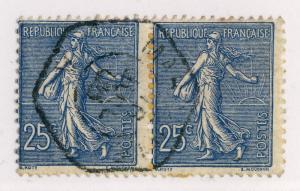FRANCE - 1905 - CàD MARSEILLE-A / A (Recette Auxiliaire Urbaine) /PAIRE n°132