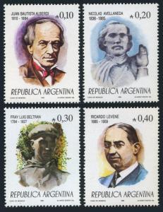 Argentina 1536-1539,MNH.Mi 1771-1774.Juan Bautista Alberdi,Nicolas Avellaneda,
