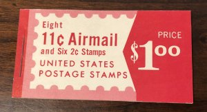 BKC22 Combination Airmail Booklet -  2  panes of C78a and 1 pane of 1280c